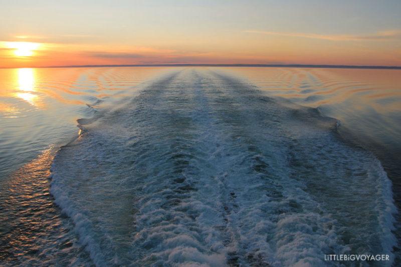 Der Sankt Lorenz bei Sonnenuntergang