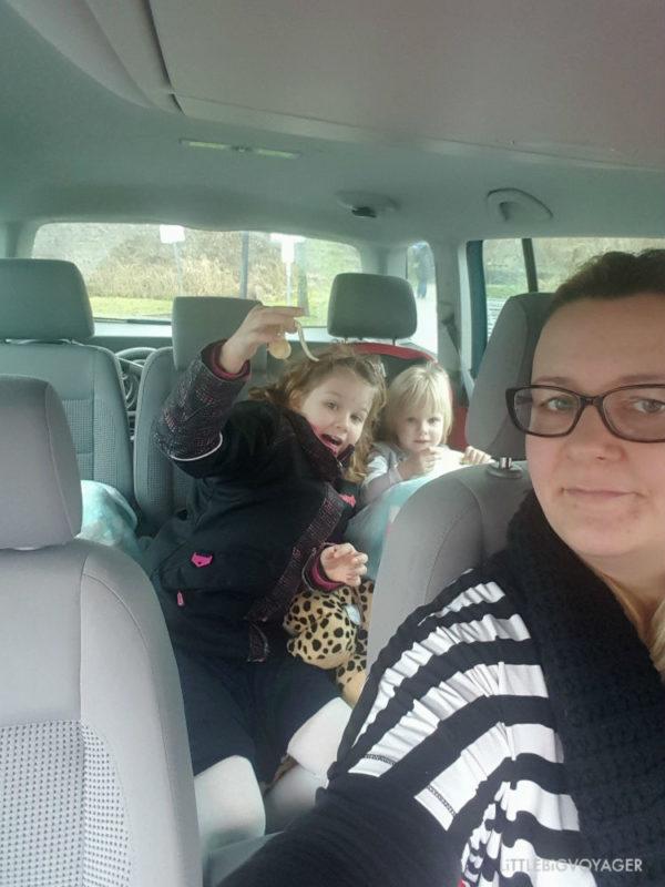 Im Auto auf dem Weg zum Wattforum