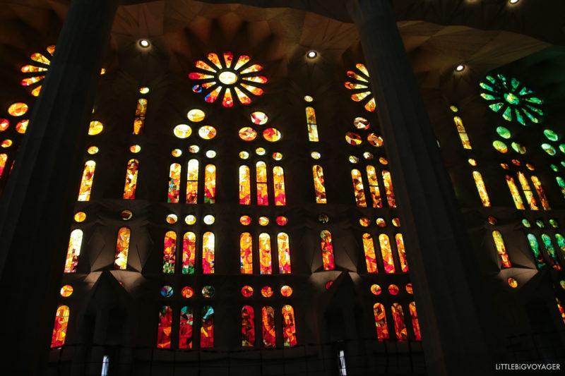 Farbenspiel in der Sagrada Familia