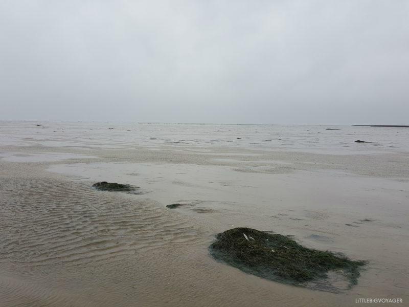 Nordsee bei Nordstrand im Regen